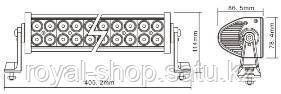 Фара светодиодная (led балка) ближнего света двухрядная 72W / UNI-B272 - фото 2