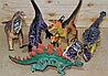 051 Динозавры резиновые качественые разные 36*22см