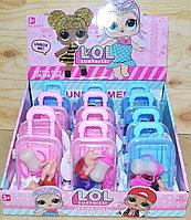 BT819 Лол сюрприз кукла с бутылочкой в чемодане 4 вида 12шт, цена за 1шт 15*8см, фото 1