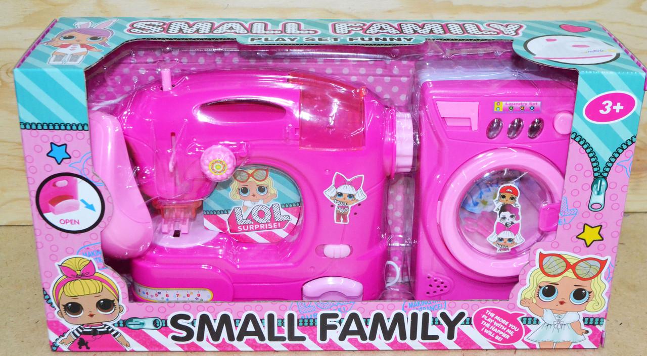 DN2021C-LO Бытовая техника Small family швейная и стиральная на батар 2в1, 33*18см