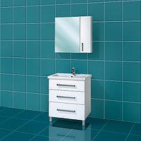 Комплект тумба с умывальником и зеркалом для ванной «Акваль Анна» 70 см. (Умывальник Палермо 70)