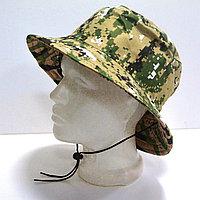 Шляпа для рыбалки охоты и походов с ветрозащитной веревкой пиксельный камуфляж