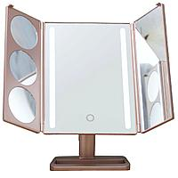 ULike Gold зеркало с подсветкой настольное складное