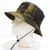 Шляпа для рыбалки охоты и походов с ветрозащитной веревкой оливковый камуфляж