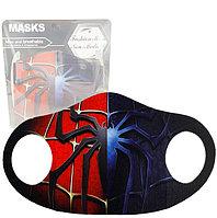 Многоразовая защитная маска детская от холода и пыли с принтом Человека Паука Spider man