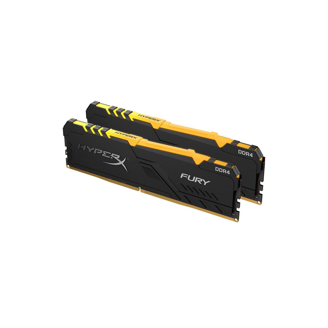 Комплект модулей памяти Kingston HyperX Fury RGB HX434C16FB3AK2/16 DDR4 16G (2x8G) 3466MHz