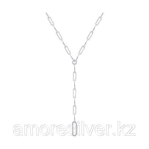 Колье SOKOLOV серебро с родием, без вставок, фантазийные 94074674 размеры - 50