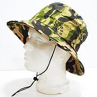 Шляпа для рыбалки охоты и походов с ветрозащитной веревкой деним камуфляж
