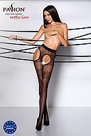 Эротические колготки TIOPEN 002 nero 1/2 (20 den) - Passion, имитация чулок и пояса