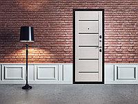 Дверь входная металлическая Ferroni Гарда 7,5 Царга Муар Лиственница мокко