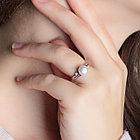 Кольцо из серебра с натуральным жемчугом и фианитом, фото 2