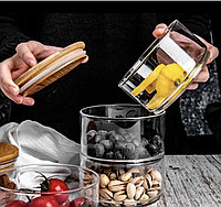 Стеклянная банка для хранения продуктов герметичная влагонепроницаемая
