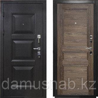 Дверь МЕГА-2066/880/R Дуб шале мореный