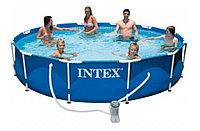 Каркасный сборный бассейн Intex Metal Frame Pool 366 х 76 см с фильтром
