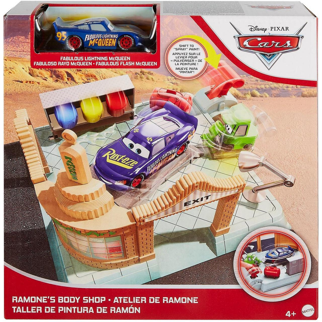 Cars / Тачки Игровой набор Мастерская боди-арта Рамона, Стремительный Молния МакКуин