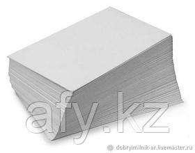 Бумага А4 самоклеящаяся белая