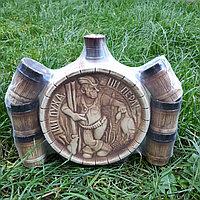 Керамический набор для спиртных напитков Охотничий