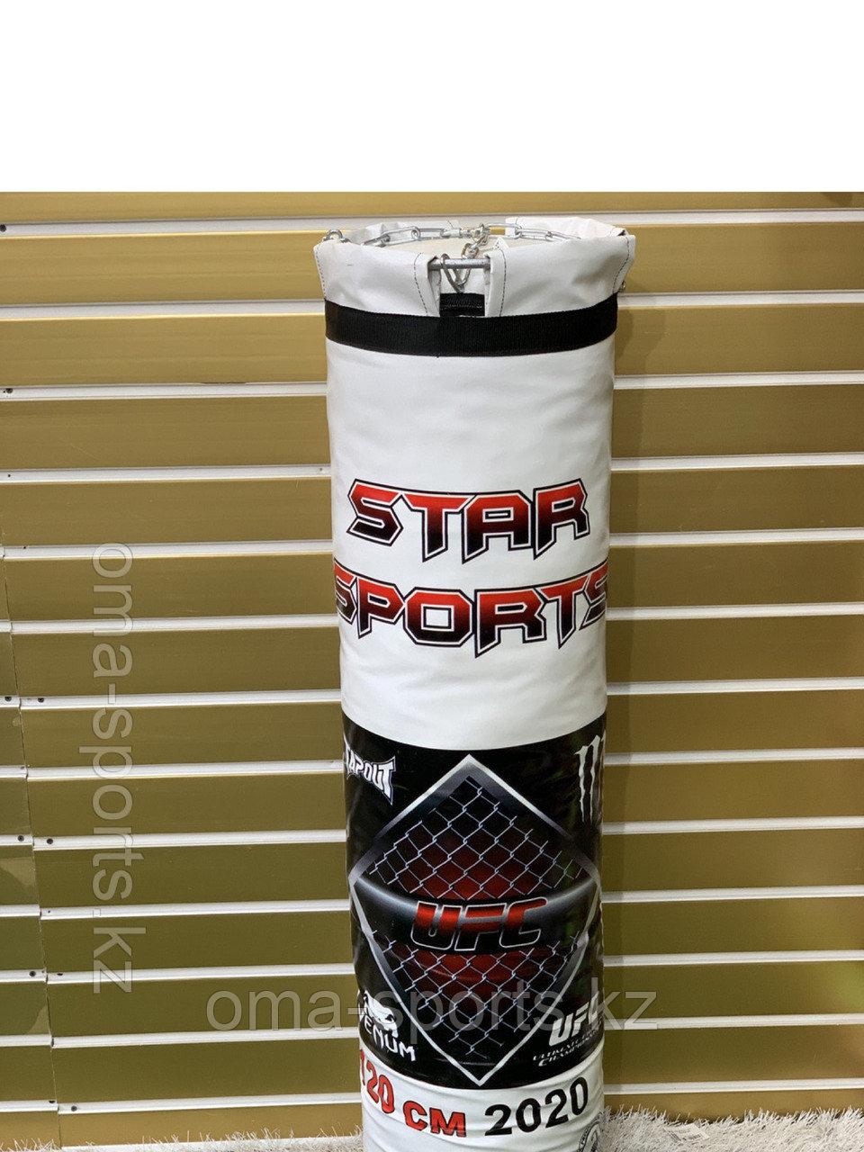 Боксерский мешок (груша) баннер, опилки, 100 см