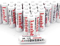 Аккумуляторные батарейки пальчиковые AA, 1,2 В, 2580 мАч, никелево-металлогидридная батарея