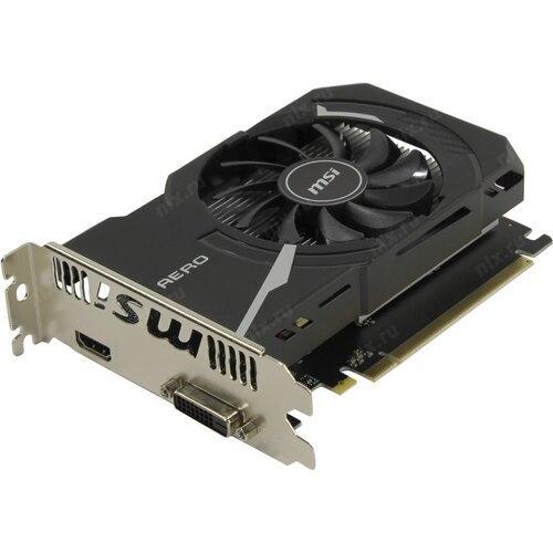 Видеокарта MSI GeForce GT1030 AERO ITX 2GD4 OC 2Gb DDR4 64bit DVI HDMI