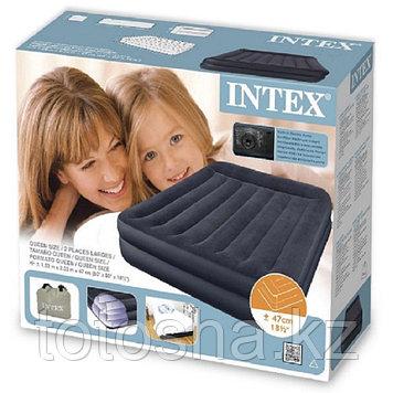 66702 Intex 1.5местная надувная кровать 152х203х47 см