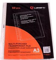 """Файл-вкладыш """"Lamark"""", А3, 50мкм, перфорация, тиснение, 50 штук в упаковке"""