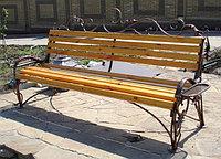 Скамейки для дачи из металла и дерева