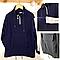 №16038 Худи черн-син с карманом и полоской 134-176 см 13988, фото 4