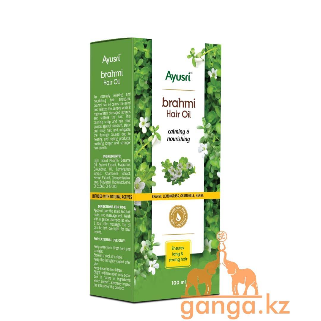 Питательное масло для волос Брами (Brahmi hair oil AYUSRI), 100 мл