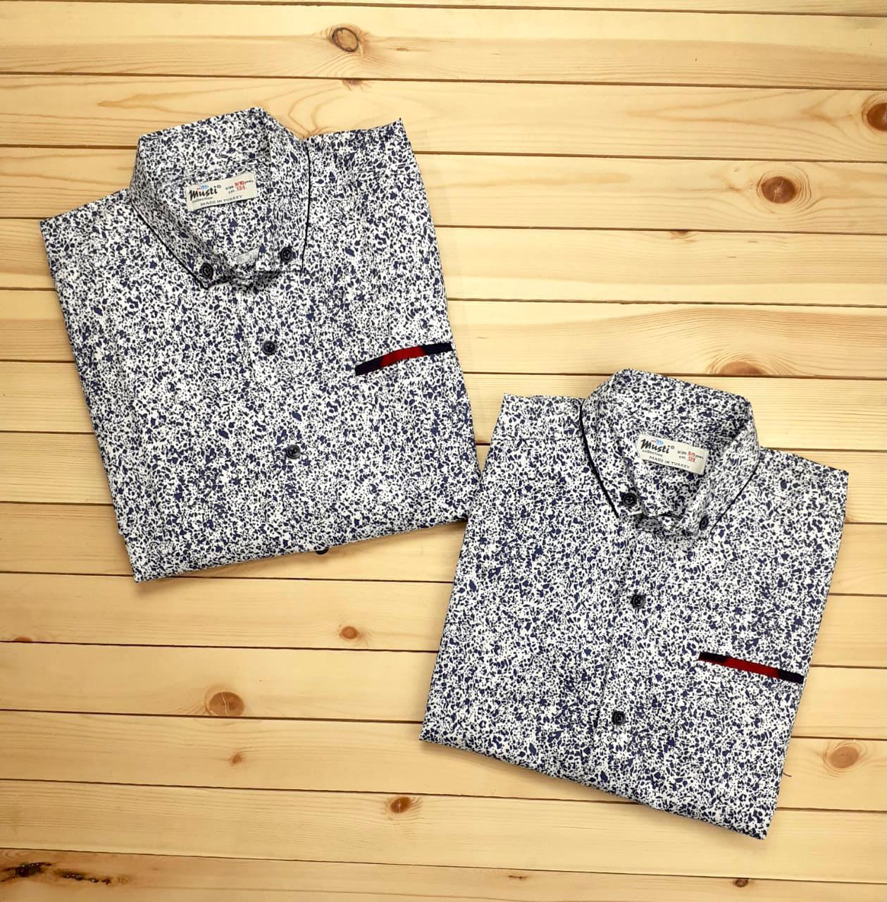 Рубашка с крапинками №1850