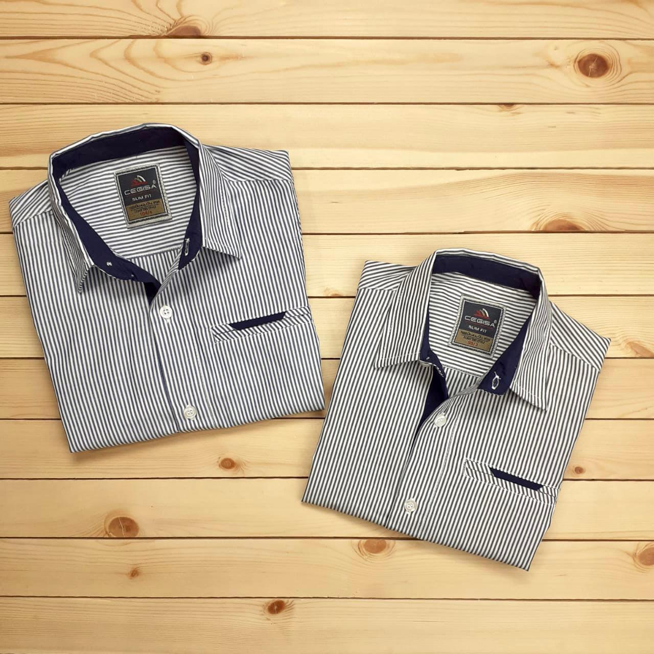 Рубашка для мальчиков в полоску № 1859