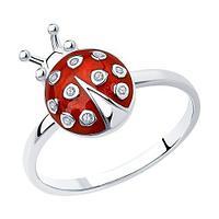 SOKOLOV Кольцо SOKOLOV 94010400 серебро фианит эмаль 16р