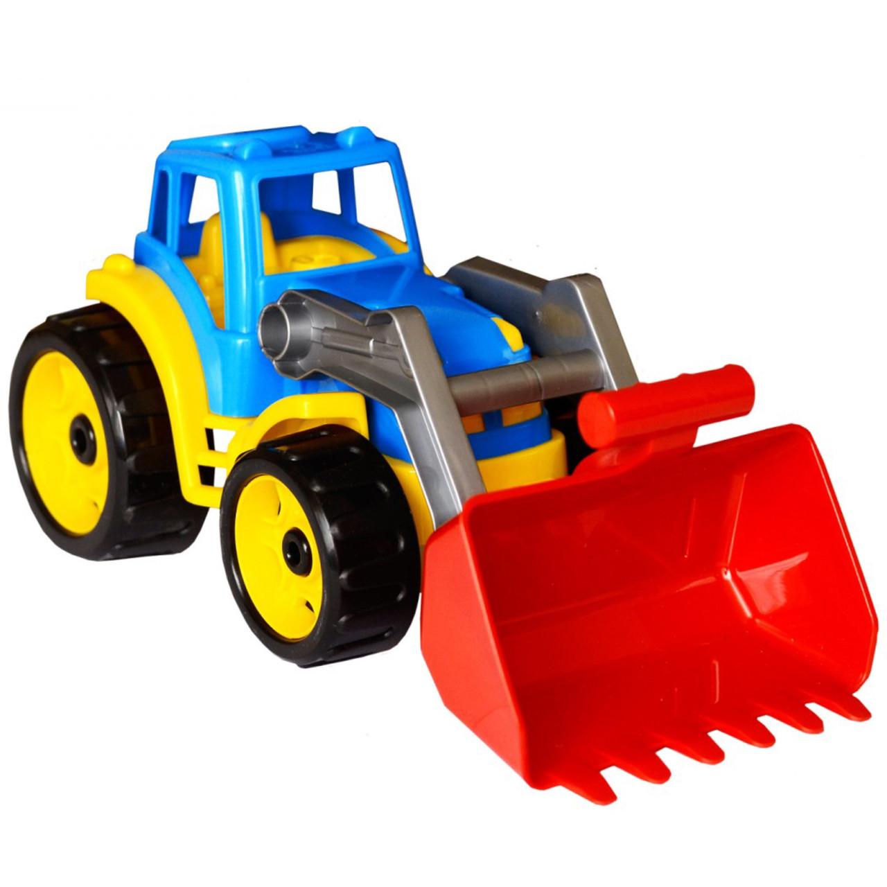 Игрушка трактор Максик с ковшом, ТехноК - фото 1
