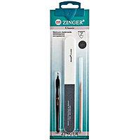 Набор маникюрных инструментов Zinger из 3 предметов (пилка, триммер, палочка)