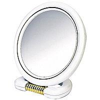Зеркало косметическое двустороннее круглое на подставке, 15см