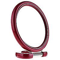 Зеркало косметическое двустороннее круглое на подставке, 10см