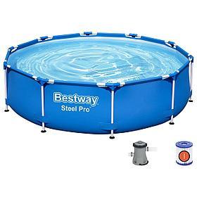 Бассейн каркасный круглый Bestway 305х76 см.(в комплекте: насос с фильтром 220V) 56679
