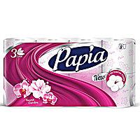 Туалетная бумага Papia New 3-х слойная, 8 рулонов