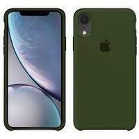 Чехол на телефон Темно-Зеленый Silicone Case iPhone XR