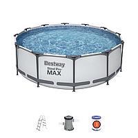 Каркасный бассейн Bestway 56418 (366 на 100 с лестницей и фильтром)