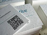 Визитки на текстурной бумаге