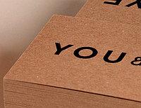 Визитки на крафтовой бумаге