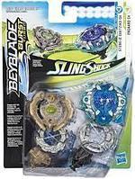 Hasbro Bey blade СлингШок Игровой набор 2 волчка Бейблейд (Stone-X Quetziko Q4 - Engaard E4)