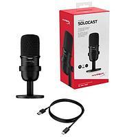 Настольный микрофон HyperX SoloCast на подставке