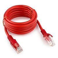 Патч-корд UTP Cablexpert PP12-2M/R кат.5e, 2м, литой, многожильный (красный)