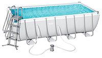 Каркасный бассейн Bestway 56670 (488х244х122 см) с картриджным фильтром, лестницей и тентом