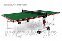 Теннисный стол Compact Expert Indoor с сеткой ЗЕЛЁНЫЙ (GREEN)