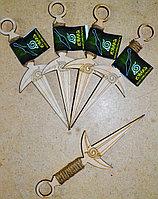 Нож с веревкой на рукояти - сувенир из дерева (ручная работа)#made in KZ
