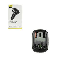 FM-Модулятор Bluetooth + Car Baseus S-13, QC 3.0, Black