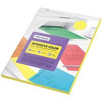 """Бумага цветная OfficeSpace """"Intensive Color"""", A4, 80 г/м², 100л., (желтый)"""